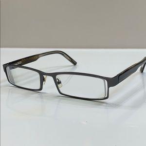 Jhane Barnes Pewter Designer Rx Eyeglass Frame